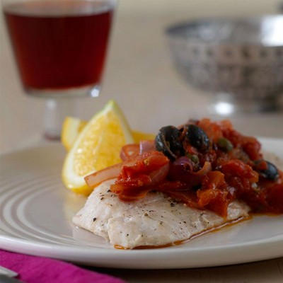 Snapper  with Black Olives & Capers